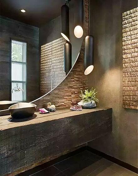 温馨柔和卫生间灯具设计