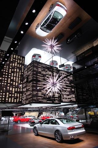 城市主题奥迪展厅效果图