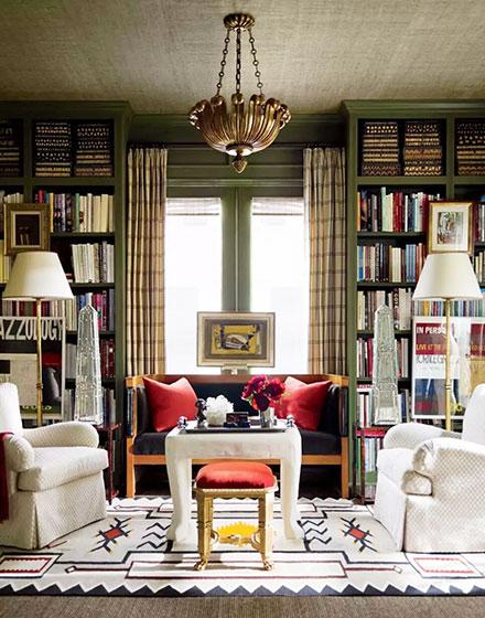 创意客厅书架背景墙设计