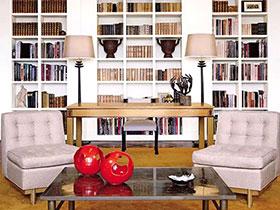 书籍也做背景墙 11个客厅书架背景墙设计