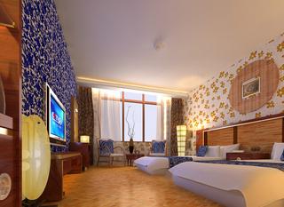 宾馆房间室内设计装饰效果图片