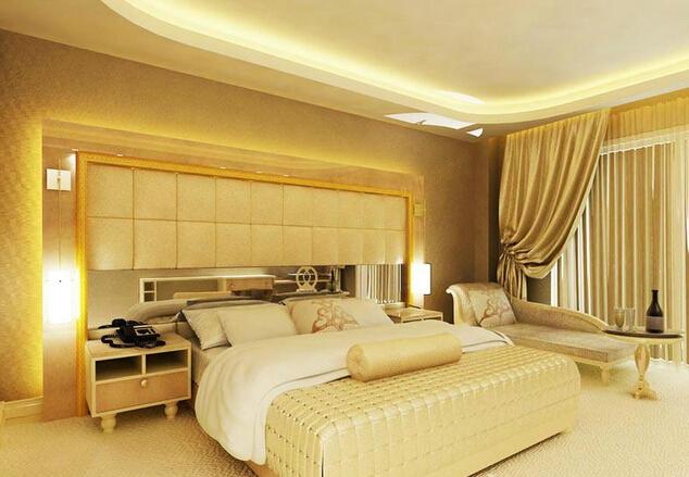 欧式宾馆房间设计装修效果图片