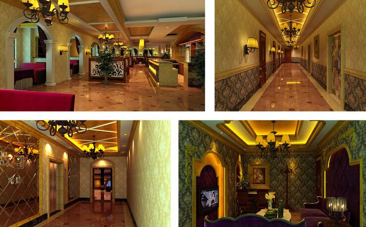 欧式现代咖啡厅室内装潢效果图片
