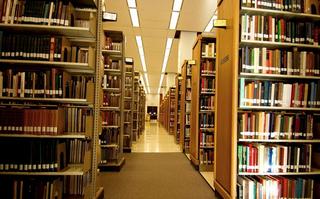 图书馆装饰书架效果图