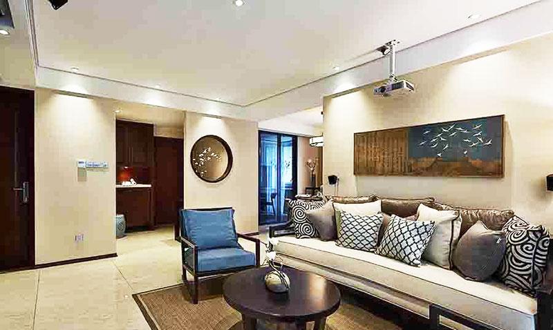 新中式风格两室一厅舒适装修效果图