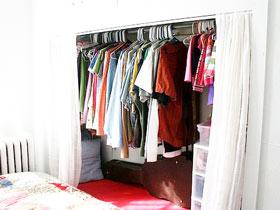 墙面巧设计 11款布帘衣柜效果图