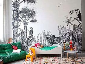 11个手绘背景墙 看色彩的美丽绽放