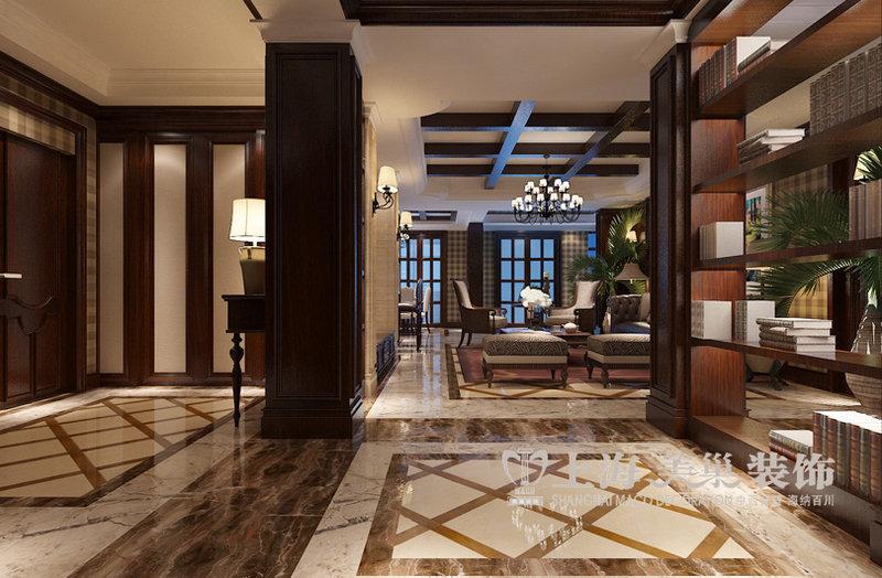 郑州温哥华山庄270平方复式台式后现代风格装修案例效果图——客厅图片