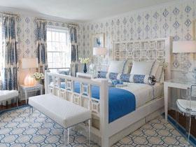 7款地中海风情卧室设计 清爽蓝白配