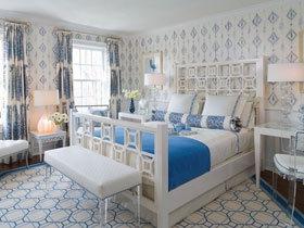 蓝白淡雅空间 14款经典地中海卧室