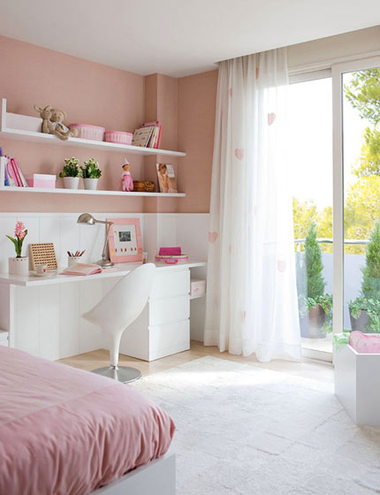 粉嫩小书房设计