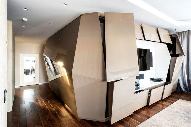126平米简约设计电视背景墙装修