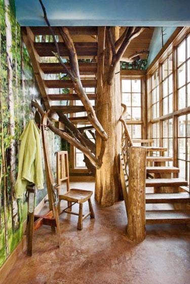 实木楼梯效果图