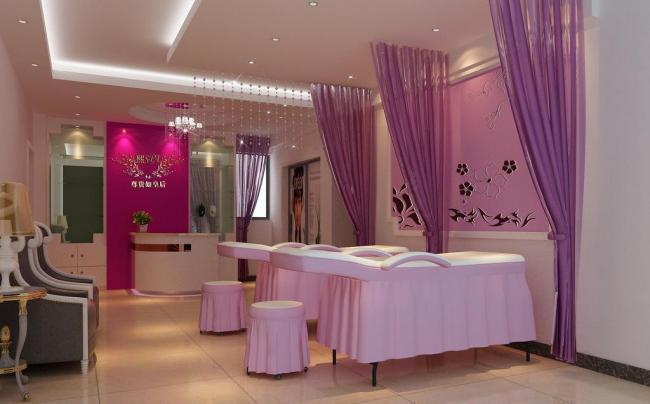 美容院室内布置装饰效果图片
