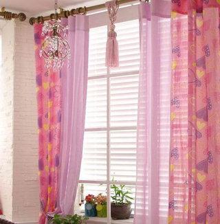 紫色窗帘效果图