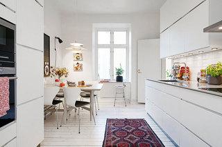 北欧风格白色110平米效果图