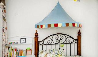 清新童话美式儿童房 床头装饰设计