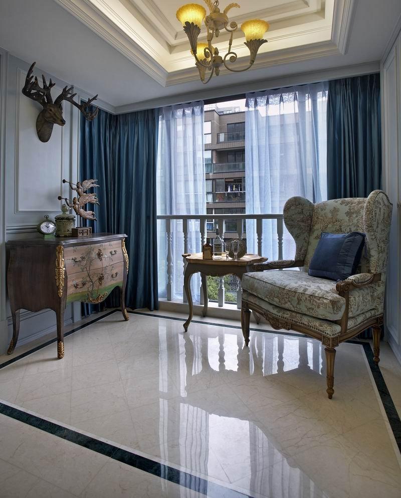 120平米欧式三居室装修效果图图片