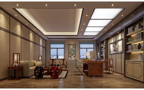 5-10万80平米中式小户型装修效果图,王鼎国际办公室图图片