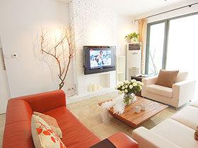 一居室小户型装修图 温馨橘色空间