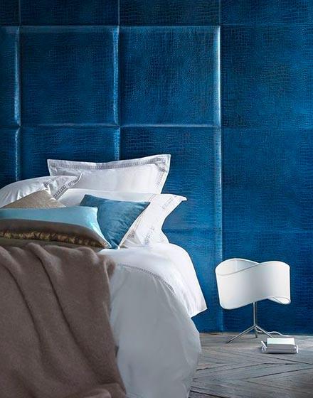 沉稳蓝色卧室静心好睡眠