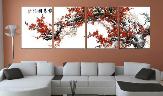 沙发背景墙挂画风水学问