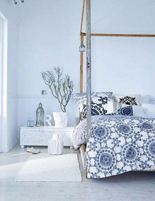 卧室树枝装饰设计图片