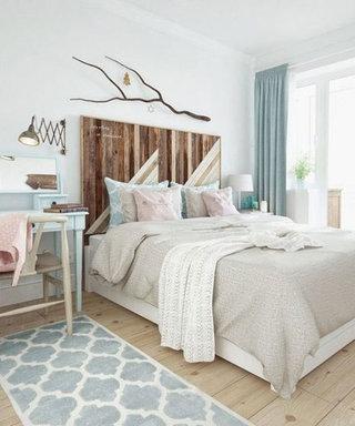 树枝装饰卧室设计图片