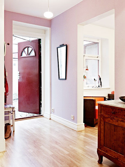 温馨复古北欧风 小公寓背景墙设计