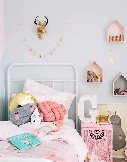 可爱动物头装饰儿童床头