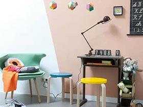 10個兒童房背景墻 玩的就是幾何風