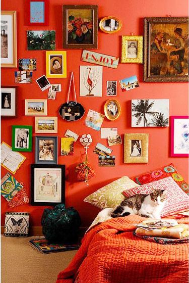 可爱卧室床头装饰