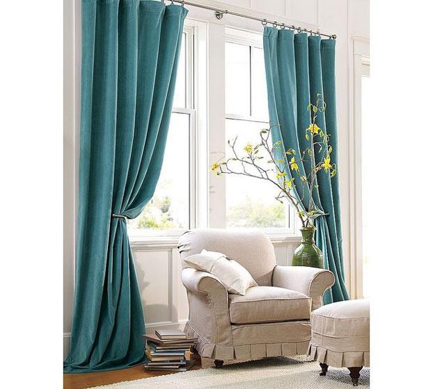 绿色窗帘图片