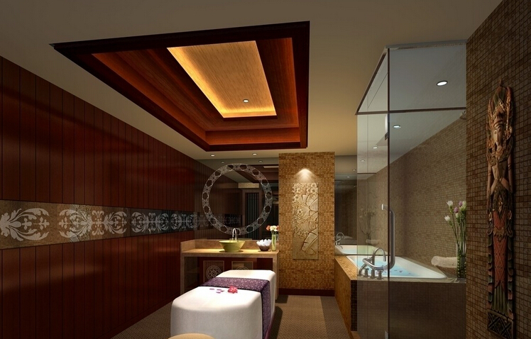 美容院内部设计吊顶图片