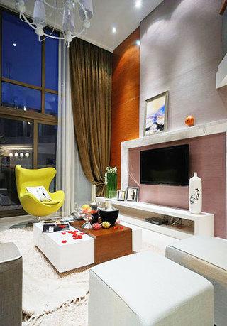 loft公寓装修效果图客厅背景墙设计
