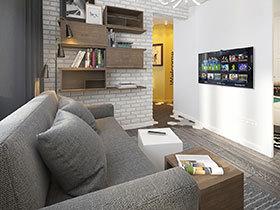 文艺混搭两居室装修 小小的家温暖就好
