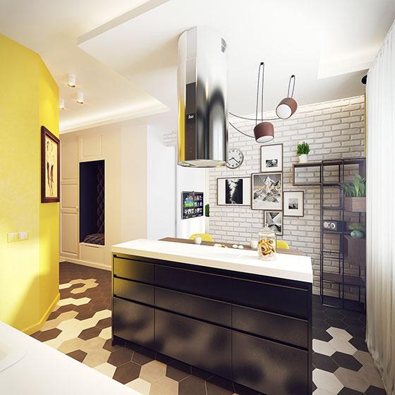 50平方小户型装修图厨房设计高清图片