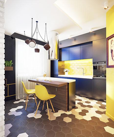 50平方小户型装修图餐厅设计高清图片