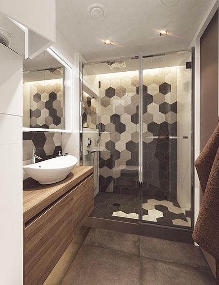 50平方小户型装修图简约卫生间设计高清图片