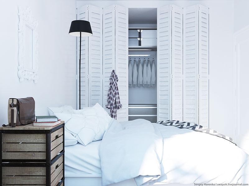 白色装修风格卧室衣柜设计