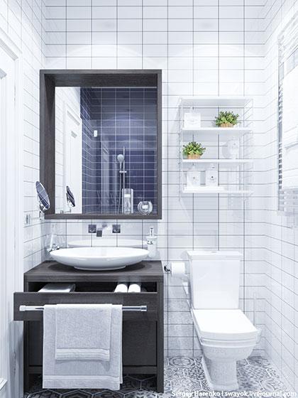 白色装修风格卫生间设计