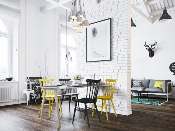 挑高小户型装修餐厅设计