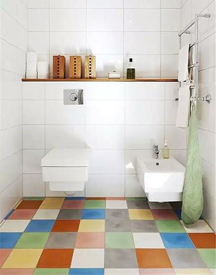 彩色马赛克卫浴间地砖