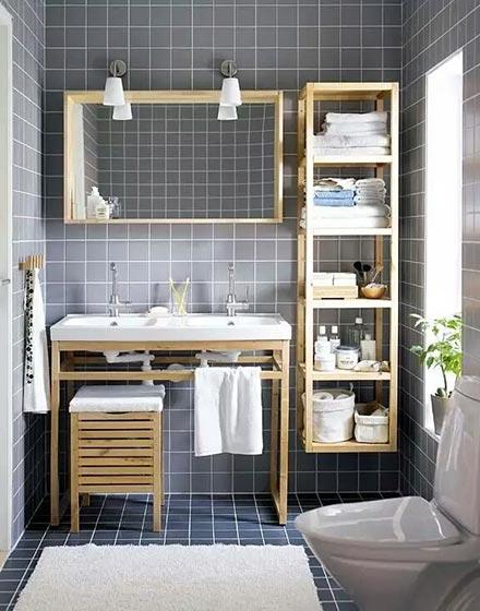 网格卫浴间地砖