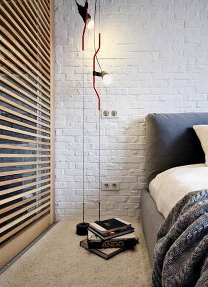 简约风格效果图卧室床头设计
