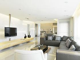 明净亮丽的空间 米色简欧三居室效果不错