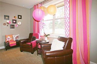 客厅彩色双层窗帘