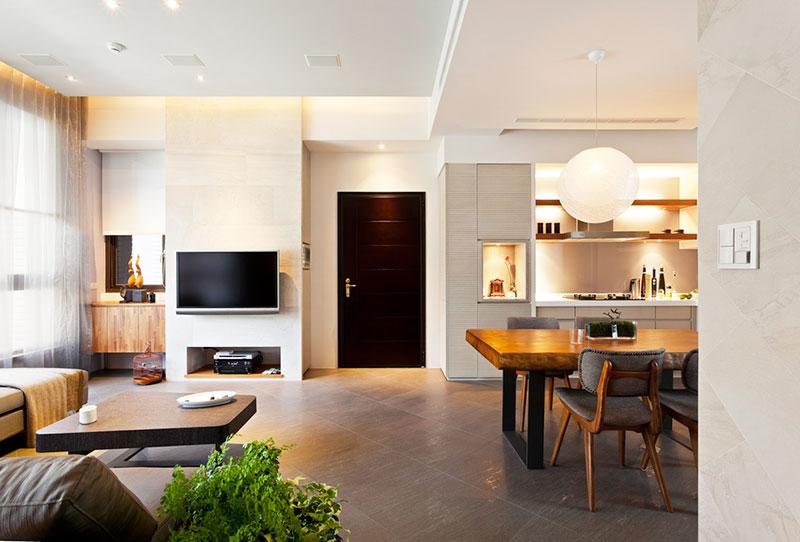 78平米简约设计效果图客厅过道设计