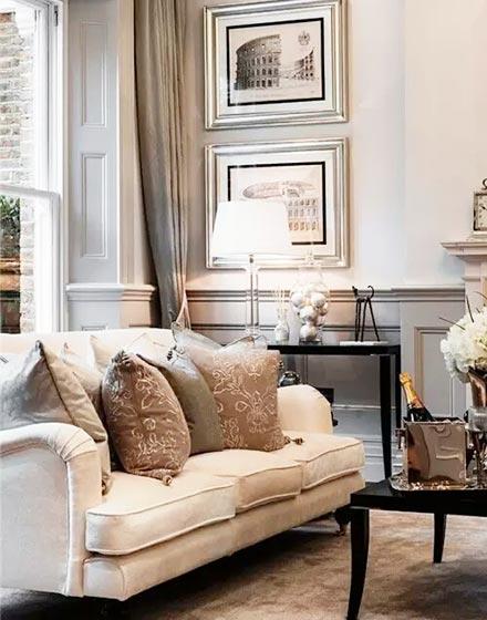优雅简欧风格客厅设计
