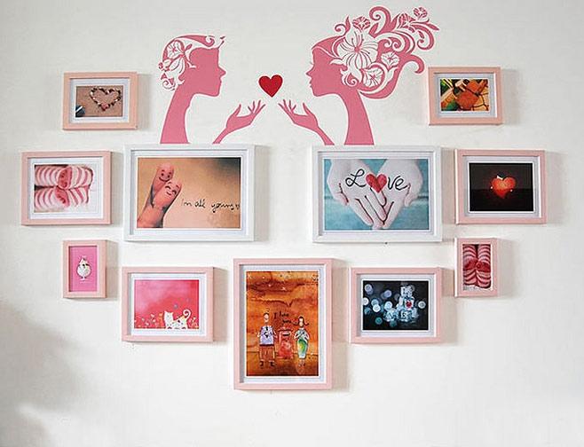 心形照片墙效果图